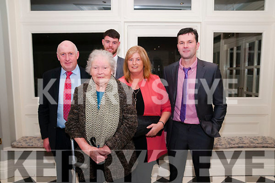 North Kerry Harriers Ball: attending the North Kerry Harriers Hunt Ball at the Listowel Arms Hotel on Saturday night last were Tom McCarthy, Kathleen Stack, Catherine & Mike Kelliher & Gary Kelliher at back.