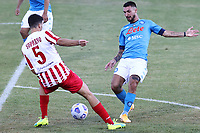 Matteo Politano of SSC Napoli and Marco Soprano SS Teramo compete for the ball<br /> during the friendly football match between SSC Napoli and SS Teramo Calcio 1913 at stadio Patini in Castel di Sangro, Italy, September 04, 2020. <br /> Photo Cesare Purini / Insidefoto