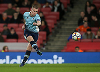 Blackpool U18's Ben Jacobson shoots at goal <br /> <br /> Photographer Andrew Kearns/CameraSport<br /> <br /> Emirates FA Youth Cup Semi- Final Second Leg - Arsenal U18 v Blackpool U18 - Monday 16th April 2018 - Emirates Stadium - London<br />  <br /> World Copyright &copy; 2018 CameraSport. All rights reserved. 43 Linden Ave. Countesthorpe. Leicester. England. LE8 5PG - Tel: +44 (0) 116 277 4147 - admin@camerasport.com - www.camerasport.com