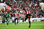 Billy Sharp of Sheffield Utd controls the ball during the Championship league match at Bramall Lane Stadium, Sheffield. Picture date 28th April, 2018. Picture credit should read: Harry Marshall/Sportimage