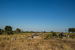 Village in clearcut area, western Zambia