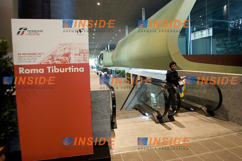 Inaugurazione della Nuova Stazione Ferroviaria di Roma Tiburtina..Roma 28 Novembre 2011..Photo Serena Cremaschi Insidefoto..............................