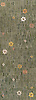 Meadow, a natural stone mosaic backsplash, shown in  Kay's Green, Wujan Jade, Chartreuse tumbled, Emperador Dark, Joanna, Blush, Rosa Noreiga, Thassos and Rosa Portogallo polished, is part of the Metamorphosis Collection by Sara Baldwin for New Ravenna Mosaics.