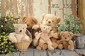 Interlitho, Alberto, CUTE ANIMALS, teddies, photos, 5 teddies, flowers(KL15518,#AC#)