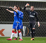 26.02.2020 SC Braga v Rangers: Allan McGregor and Borna Barisic