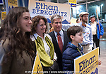 Ethan Berkowitz & family municipal election night april 7, 2015 in Anchorage, Alaska.