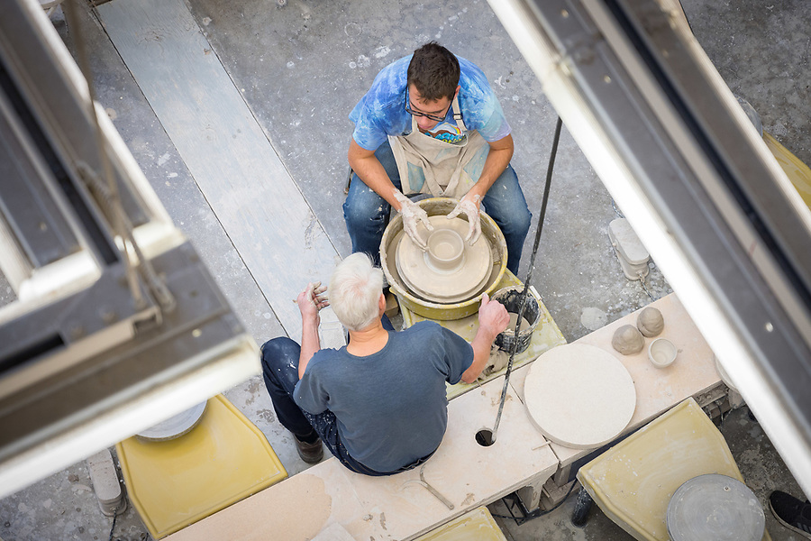November 1, 2018; Pottery wheel, Riley Hall of Art and Design (Photo by Matt Cashore)