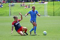 Boyds, MD - Sunday July 31, 2016: Christine Nairn, Christie Rampone during a regular season National Women's Soccer League (NWSL) match between the Washington Spirit and Sky Blue FC at Maureen Hendricks Field, Maryland SoccerPlex.