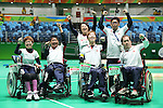 Japan team group (JPN),<br /> SEPTEMBER , 2016 - Boccia : <br /> Mixed Team BC1/BC2 Semi-Final<br /> at Carioca Arena 2<br /> during the Rio 2016 Paralympic Games in Rio de Janeiro, Brazil.<br /> (Photo by Shingo Ito/AFLO)