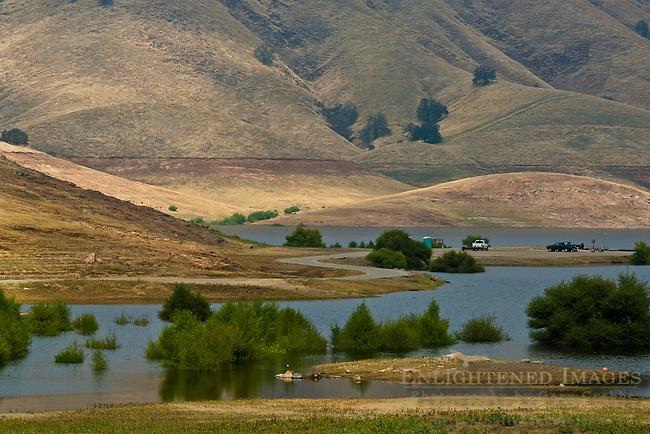 Low water level at Lake Kaweah, Tulare County, California