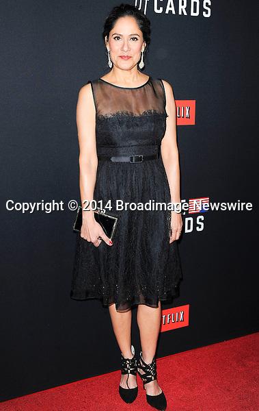 Pictured: Sakina Jaffrey<br /> Mandatory Credit &copy; Adhemar Sburlati/Broadimage<br /> Film Premiere of House of Cards<br /> <br /> 2/13/14, Los Angeles, California, United States of America<br /> <br /> Broadimage Newswire<br /> Los Angeles 1+  (310) 301-1027<br /> New York      1+  (646) 827-9134<br /> sales@broadimage.com<br /> http://www.broadimage.com