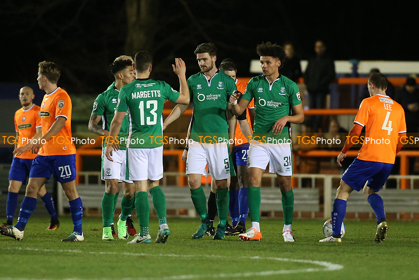 Lee Angol of Lincoln City (31) scores the first goal for his team and celebrates during Braintree Town vs Lincoln City, Vanarama National League Football at the IronmongeryDirect Stadium on 7th March 2017