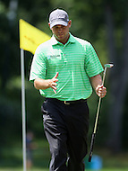 June 28, 2014 (Bethesda, Maryland).   Bill Haas after his putt on hole 10  during Round 3 of the Quicken Loan National at the Congressional Country Club in Bethesda, MD. (Photo by Elliott Brown/Media Images International)