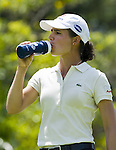 SINGAPORE - MARCH 06:  Lorena Ochoa of Mexico drinks during the second round of HSBC Women's Champions at the Tanah Merah Country Club on March 6, 2009 in Singapore.  Photo by Victor Fraile / The Power of Sport Images