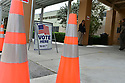 MIRAMAR, FL - MARCH 17: Poll worker waits on voters to arrived at Broward County, Florida precinct to vote in the Florida primary on March 17, 2020 in Miramar, Florida. People are heading to the polls to vote for their Democratic choice in their parties' respective primaries during the COVID-19 outbreak where United States death toll from the virus passed 100. black voters carried Joe Biden to his projected Florida win during Super Tuesdayon March 17, 2020 in Miramar, Florida.  ( Photo by Johnny Louis / jlnphotography.com )