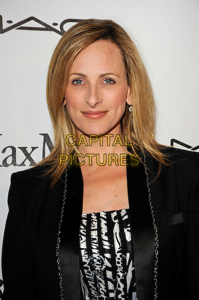 MARLEE MATLIN.3rd Annual Women In Film Pre-Oscar Party held At A Private Residence, Bel Air, California, USA. .March 4th, 2010 .headshot portrait smiling black white print patterned pattern.CAP/ROT.©Lee Roth/Capital Pictures