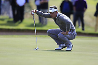 Luke Donald (ENG) lines up his putt on the 17th green during Thursday's Round 1 of the 2017 Omega European Masters held at Golf Club Crans-Sur-Sierre, Crans Montana, Switzerland. 7th September 2017.<br /> Picture: Eoin Clarke | Golffile<br /> <br /> <br /> All photos usage must carry mandatory copyright credit (&copy; Golffile | Eoin Clarke)