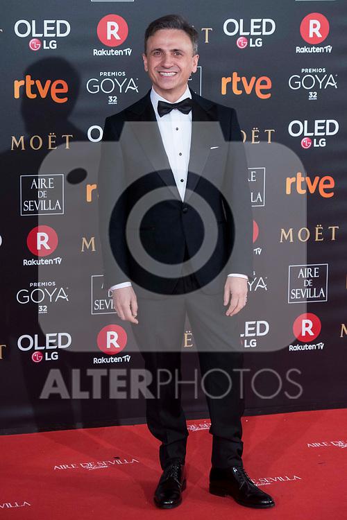 Jose Mota attends red carpet of Goya Cinema Awards 2018 at Madrid Marriott Auditorium in Madrid , Spain. February 03, 2018. (ALTERPHOTOS/Borja B.Hojas)