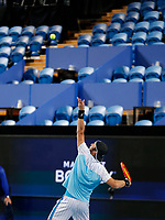 3rd January 2020; RAC Arena, Perth, Western Australia; ATP Cup Australia, Perth, Day 1, Russia versus Italy; Paolo Lorenzi of Italy serves during his match against Russia in the doubles - Editorial Use