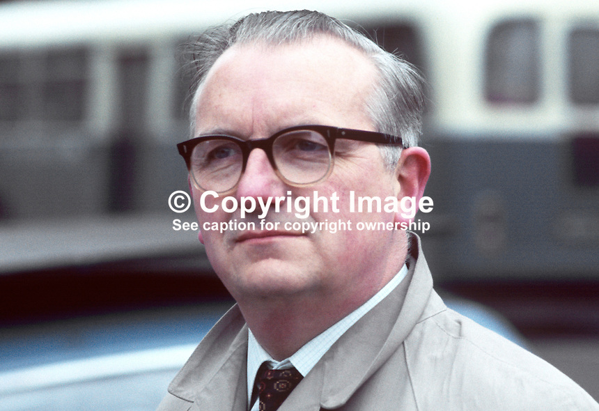James Doherty, leader, Nationalist Party group on the Ulster Unionist controlled Londonderry Corporatation, N Ireland, UK, 197001000007JD1.<br />