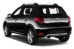 Car pictures of rear three quarter view of 2017 Dacia Sandero Stepway 5 Door Hatchback Angular Rear