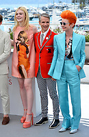 Elle Fanning, John Cameron Mitchell &amp; Sandy Powell at the photocall for &quot;How To Talk To Girls At Parties&quot; at the 70th Festival de Cannes, Cannes, France. 21 May 2017<br /> Picture: Paul Smith/Featureflash/SilverHub 0208 004 5359 sales@silverhubmedia.com