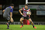 Nathan De Thierry looks to take on Elliot Dixon. The game of Three Halves, a pre-season warm-up game between the Counties Manukau Steelers, Northland and the All Blacks, played at ECOLight Stadium, Pukekohe, on Friday August 12th 2016. Photo by Richard Spranger.