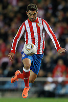 19.04.2012 MADRID, SPAIN - UEFA Europa League 11/12 Semi Finals match played between At. Madrid vs Valencia (4-2) at Vicente Calderon stadium. the picture show Adrian Lopez Alvarez (Spanish striker of At. Madrid)