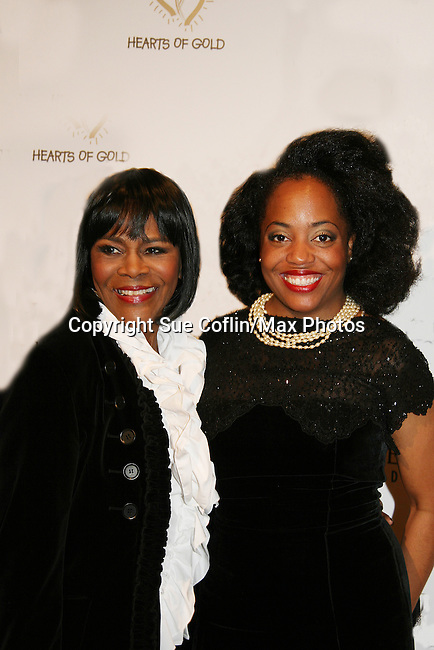 "Guiding Light Cecily Tyson and Another World - Rhonda Ross at the The Hearts of Gold 13th Annual Gala ""It's a Love Thing"" - a benefit gala for Hearts of Gold on November 12, 2009 at the Metropolitan Pavilion, NYC, NY. (Photo by Sue Coflin/Max Photos)"
