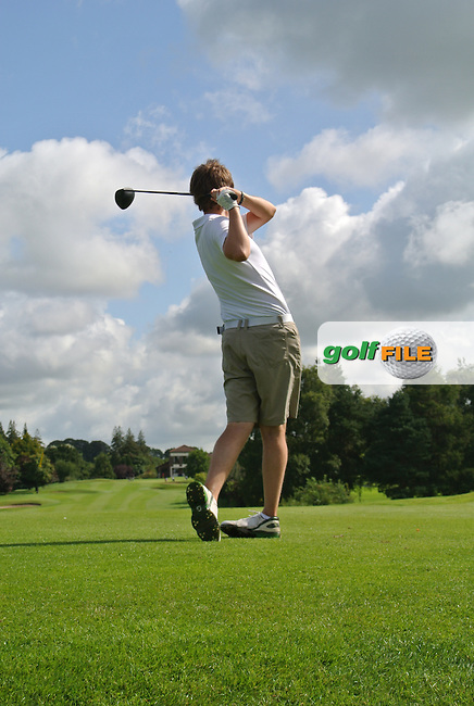 Colm Crowley (Woodbrook) on the 9th tee during round 2 of The Mullingar Electrical Scratch Trophy in Mullingar Golf Club on Monday 4th August 2014.<br /> Picture:  Thos Caffrey / www.golffile.ie