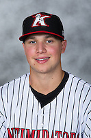 Sam Dexter (39) of the Kannapolis Intimidators poses for a photo prior to the game against the West Virginia Power at Kannapolis Intimidators Stadium on August 21, 2016 in Kannapolis, North Carolina.  The game was suspended due to wet grounds with the score tied 1-1.  (Brian Westerholt/Four Seam Images)