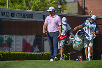 Jon Rahm (ESP) looks over at the Wall of Champions as he heads down 1 during round 3 of the Fort Worth Invitational, The Colonial, at Fort Worth, Texas, USA. 5/26/2018.<br /> Picture: Golffile | Ken Murray<br /> <br /> All photo usage must carry mandatory copyright credit (&copy; Golffile | Ken Murray)