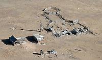 Abandoned ranch complex near Hartzel, Colorado.  Nov 2012