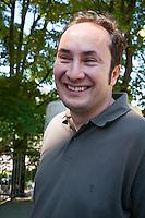 Maurizio Acerbo (SEL) durante lo Sciopero Nazionale della CGIL, in Abruzzo il corteo della protesta si è svolta nella zona rossa della città de L'Aquila ad un anno dal terremoto. 25/06/2010 Photo: Adamo Di Loreto/BuenaVista*Photo