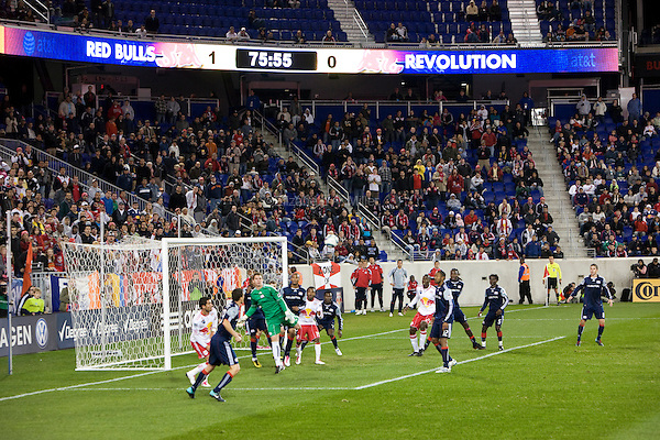 The New York Red Bulls play their final match of the season against the New England Revolution at Red Bull Arena in Harrison, New Jersey on 21 October 2010.