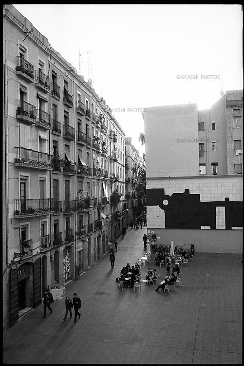 Neighborhood of MACBA, Museum of Contemporary Art of Barcelona.