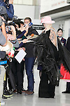 Lady Gaga signs autographs for fans upon her arrival at Narita International Airport on November 1, 2016, Chiba, Japan. Gaga returns to Japan for the first time in two years to promote her latest album Joanne. (Photo by Rodrigo Reyes Marin/AFLO)