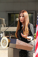 Kerri Kasem<br /> at the Kerri Kasem and Mike Gatto Press Conference to announce legislation to protect the rights of children to have access to ailing parents, Los Angeles Superior Court, Los Angeles, CA 02-20-14<br /> David Edwards/DailyCeleb.com 818-249-4998