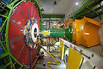 The Compact Muon Solenoid experiment (CMS) in Cessy, France studies particles emerging from high-energy collisions in the Large Hadron Collider.