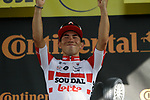 Caleb Ewan (AUS) Lotto-Soudal wins his first ever Tour stage, Stage 11 of the 2019 Tour de France running 167km from Albi to Toulouse, France. 17th July 2019.<br /> Picture: Colin Flockton | Cyclefile<br /> All photos usage must carry mandatory copyright credit (© Cyclefile | Colin Flockton)