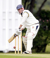 John Haskell bats for Wembley during the Middlesex County Cricket League Division Three game between Wembley and North London at Vale Farm, Wembley on Sat May 31, 2014