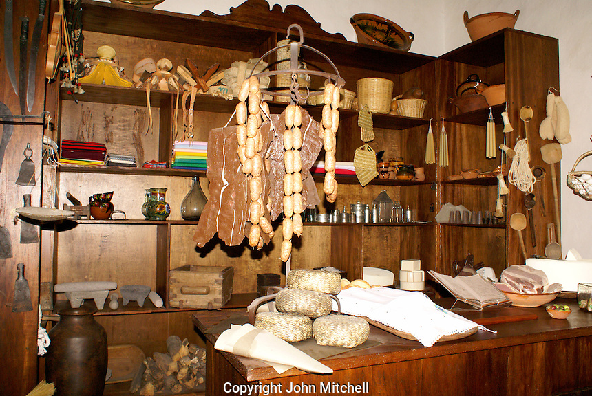 Replica of a traditional Mexican  pulperia or General store, Museo Historico de San Miguel de Allende in San miguel de Allende, Mexico. San Miguel de Allende is a UNESCO World Heritage Site....