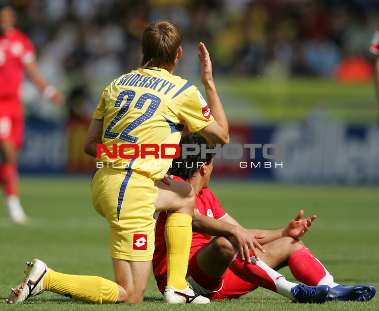 FIFA WM 2006 - Gruppe H ( Group H )<br /> Play #48 (23-Jun) - Ukraine vs Tunisia.<br /> Vyacheslav Sviderskyi from Ukraine during the match of the World Cup in Berlin.<br /> Foto &copy; nordphoto