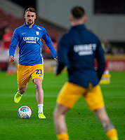 12th February 2020; Bet365 Stadium, Stoke, Staffordshire, England; English Championship Football, Stoke City versus Preston North End; Patrick Bauer of Preston North End during the warm up