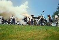 Cannon firing during Battle of Perryville reenactment, Perryville, Kentucky