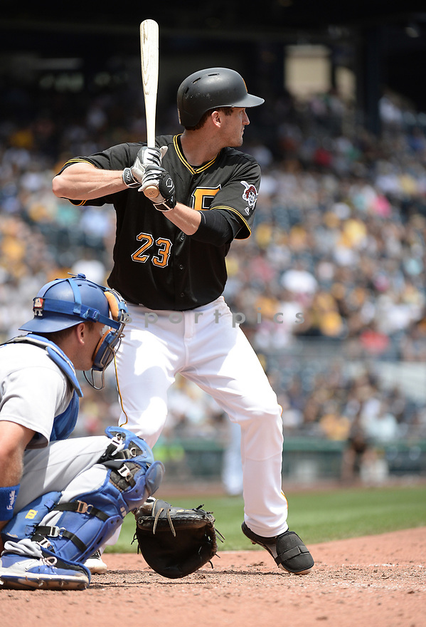 Pittsburgh Pirates David Freese (23) during a game against the Los Angeles Dodgers on June 27, 2016 at PNC Park in Pittsburgh, PA. The Dodgers beat the Pirates 4-3.