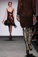 Modelle presentano le creazioni della collezione Autunno/Inverno 2013/2014 di Curiel Couture a Roma, 8 luglio 2013.<br /> Modesl wear creations of Curiel Couture's fall/winter collection 2013/2014 during the Altaroma fashion week in Rome, 8 July 2013.<br /> UPDATE IMAGES PRESS/Isabella Bonotto