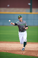 Max Jung-Goldberg (10) of Palo Alto High School in Palo Alto, California during the Under Armour All-American Pre-Season Tournament presented by Baseball Factory on January 14, 2017 at Sloan Park in Mesa, Arizona.  (Mike Janes/MJP/Four Seam Images)