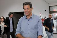 SÃO PAULO,SP,16.10.2018 - ELEIÇÕES-2018 - Fernando Haddad candidato do partido dos trabalhadores (PT) durante atendimento a imprensa no Hotel Matsubara no bairro do Paraíso região sul de São Paulo nesta terça-feira, 16. (foto: Dorival Rosa/Brazil Photo Press)