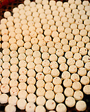 CHINA, Macau, Taipa, Asia, Almond cookies arranged in order at store, close-up